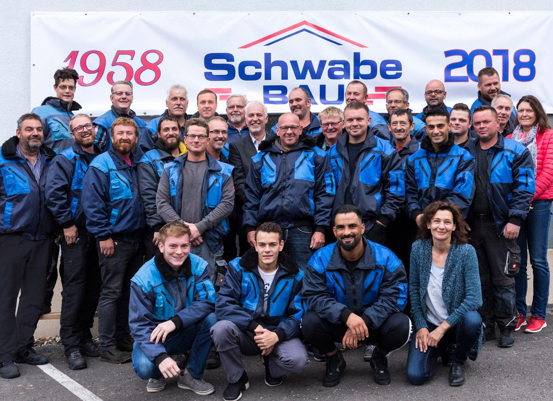 Das Schwabe Bau Team aus qualifizierten und motivierten Facharbeitern